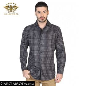 Camisa El General Western Wear 43056-Negro