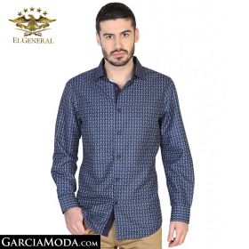 Camisa El General Western Wear 43057-Azul-Marino