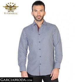 Camisa El General Western Wear 43064-Azul-Marino