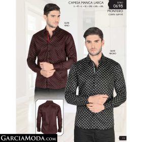 Camisa Montero 0698-Vino-Negro