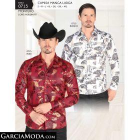 Camisa Montero 0715-Blanco-Rojo