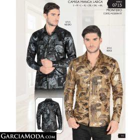 Camisa Montero 0715-Negro-Beige