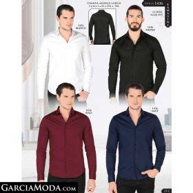 Camisa Lamasini 1436-Blanco-Negro-Vino-Navy