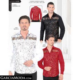 Camisa Lamasini 1478-Negro-Blanco-Rojo