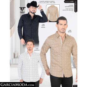 Camisa Lamasini 1498-Navy-Beige-Blanco