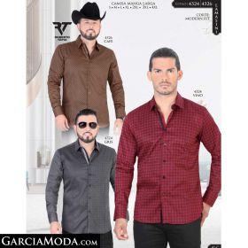 Camisa Lamasini 4326-Cafe-4324-Vino-Gris