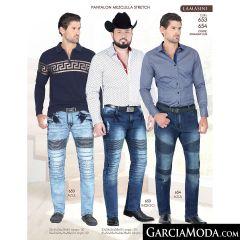 Pantalón Vaquero Lamasini Western 653-Azul-Indigo-654-Azul