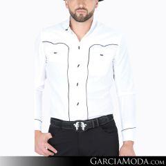 Camisa Charra El Señor De Los Cielos 124517 Blanco