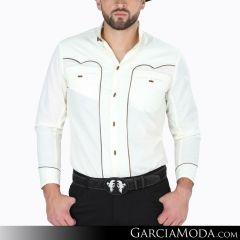 Camisa Charra El Señor De Los Cielos 124518 Beige