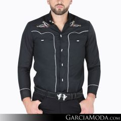 Camisa Charra El Señor De Los Cielos 124519 Negro
