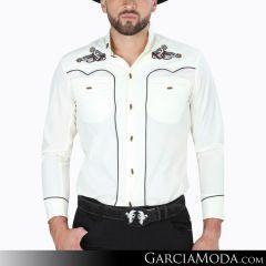 Camisa Charra El Señor De Los Cielos 124521 Beige
