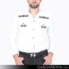 Camisa Charra El Señor De Los Cielos 124526 Blanco