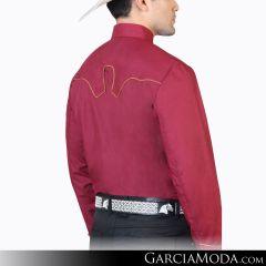 Camisa Charra El Señor De Los Cielos 124865 Vino