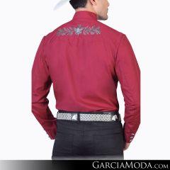 Camisa Charra El Señor De Los Cielos 124868 Vino