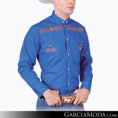 Camisa Charra El Señor De Los Cielos 124869 Azul Rey