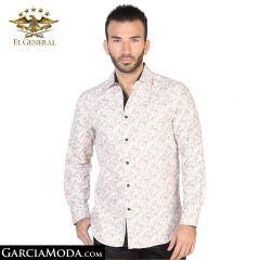 Camisa El General Western Wear 43048-Cafe