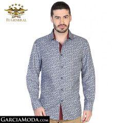 Camisa El General Western Wear 43053-Azul-Marino