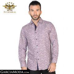 Camisa El General Western Wear 43054-Cafe