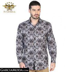 Camisa El General Western Wear 43060-Cafe