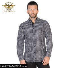 Camisa El General Western Wear 43066-Negro-Blanco