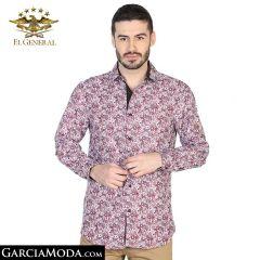 Camisa El General Western Wear 43067-Roja