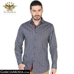 Camisa El General Western Wear 43069-Azul-Verde