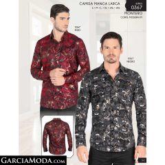 Camisa Montero 0367-Rojo-Negro
