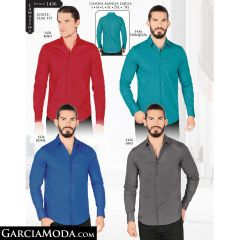 Camisa Lamasini 1436-Rojo-Turqueza-Royal-Gris