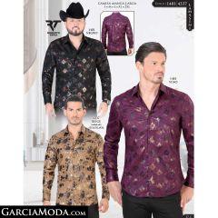Camisa Lamasini 1481-Negro-Vino-4337-Beige