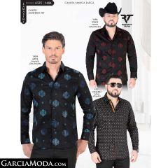Camisa Lamasini 1484-Vino-Azul-4325-Negro