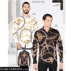 Camisa Lamasini 1723-Blanco-Negro
