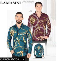 Camisa Lamasini 1723-Vino-Teal