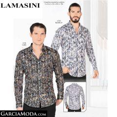 Camisa Lamasini 1725-Blanco-Cafe