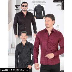 Camisa Lamasini 1297-Blanco-Menta-Navy