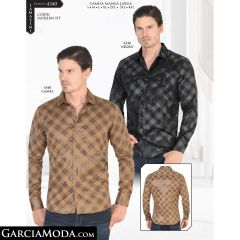 Camisa Lamasini 4340-Negro-Camel