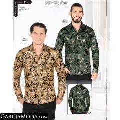 Camisa Lamasini 4341-Olivo-Camel
