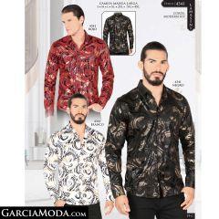 Camisa Lamasini 4341-Rojo-Negro-Blanco