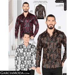 Camisa Lamasini 4348-Vino-Cafe-Blanco