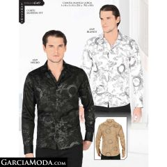 Camisa Lamasini 4349-Blanco-Negro