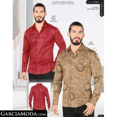 Camisa Lamasini 4349-Rojo-Camel