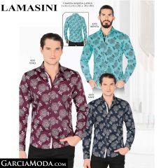 Camisa Lamasini 4355-Menta-Vino-Navy