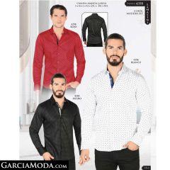 Camisa Lamasini 4358-Rojo-Blanco-Negro