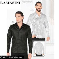 Camisa Lamasini 4367-Blanco-Negro