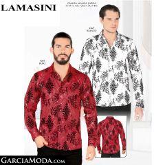 Camisa Lamasini 4369-Blanco-Rojo