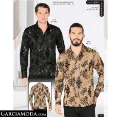 Camisa Lamasini 4369-Negro-Khaki