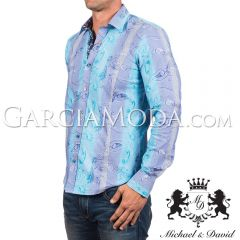 Camisa Michael & David Luxury Menswear MD-633 -Turquoise