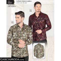 Camisa Montero 0367-Vino-Beige