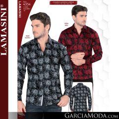 Camisa Vaquera Lamasini 4354-Vino-Negro