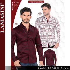 Camisa Vaquera Lamasini 4360-Blanco-Vino