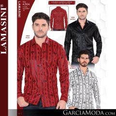 Camisa Vaquera Lamasini 4364-Negro-Rojo-Blanco
